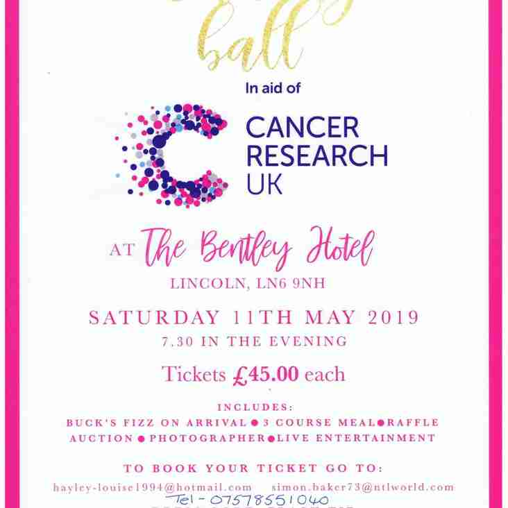 Lincoln RFC in support of charity ball.