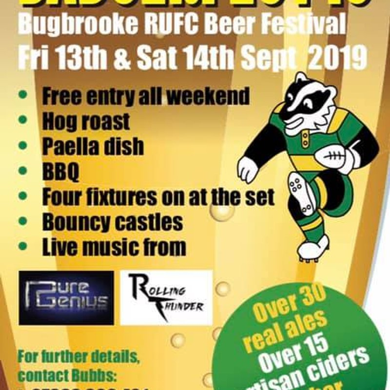 BadgerFest 2019 .... 13th and 14th September