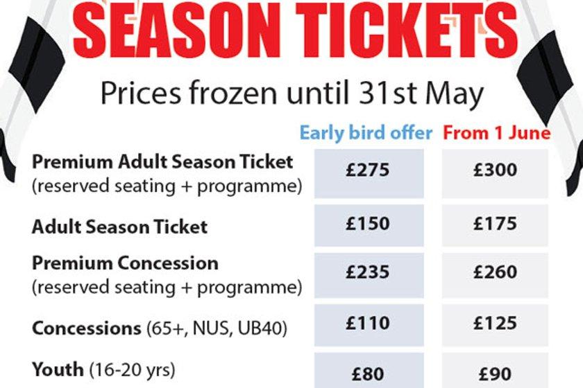 2018-19 Season Tickets