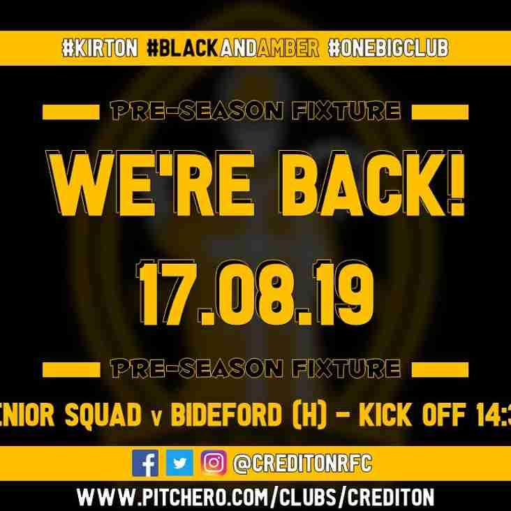 Pre-Season Fixture!