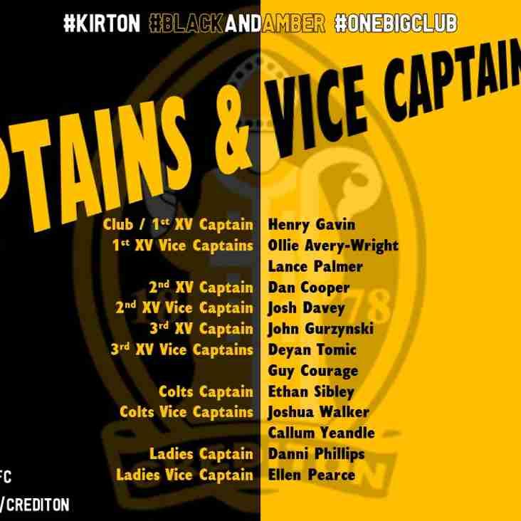 Captain & Vice Captain Announcement!