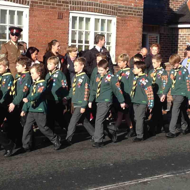 U11 Saxons on Parade