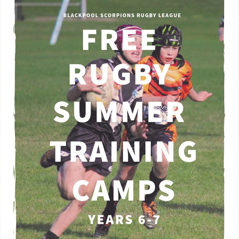 Free Rugby Training for years 6 & 7 from 22 July 10am to 12 noon