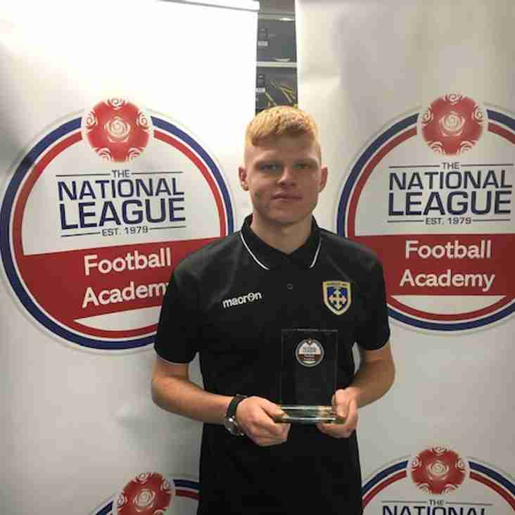 Guiseley's Newall Takes Young Player Of The Month Accolade