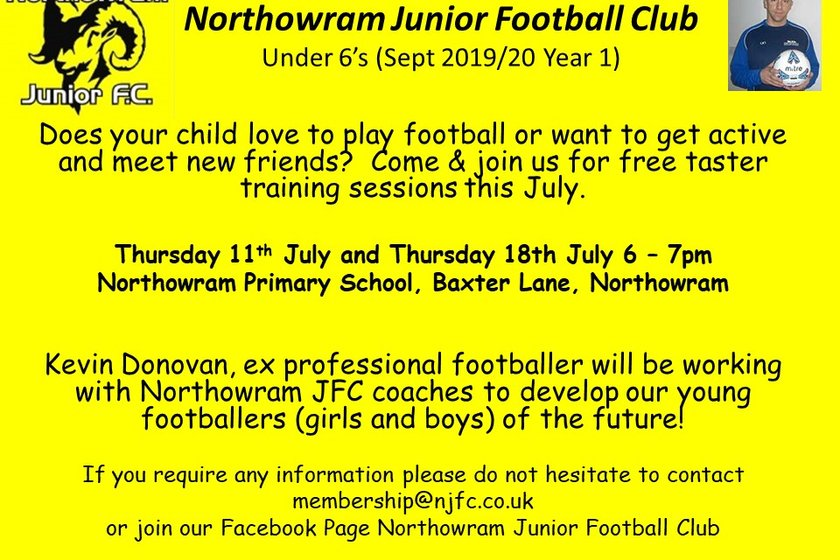 July dates for our U6 testers sessions announced