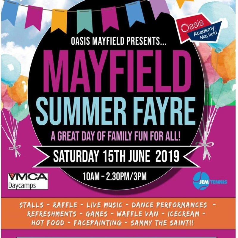 Fundraising at Oasis Hub Mayfield Summer Fayre