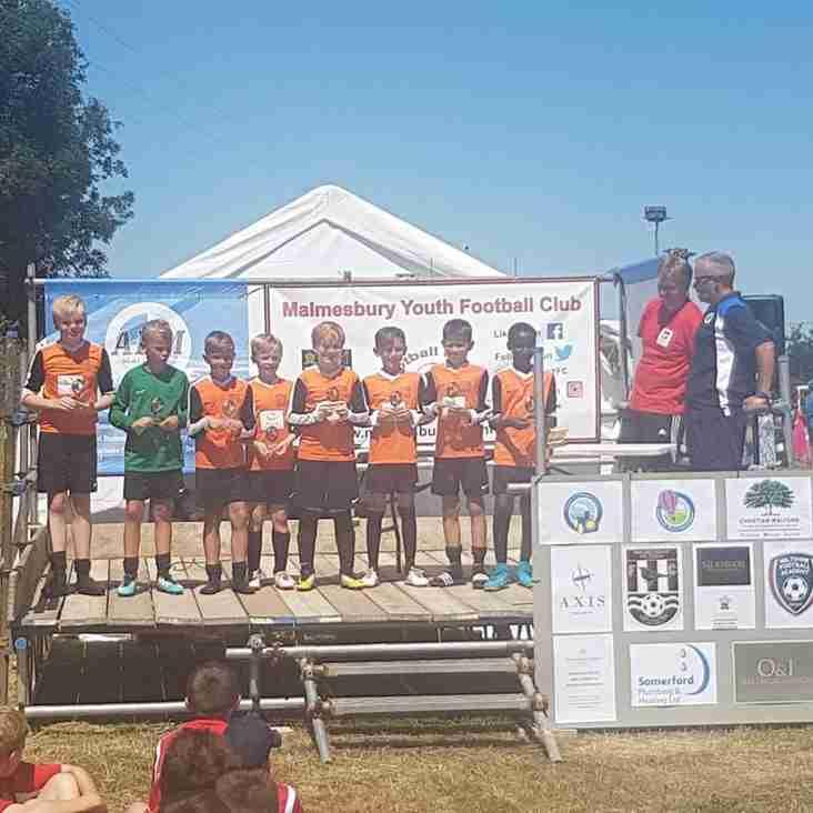 SJFC Under10 Wolves won at Malmesbury 6-a-side tournament