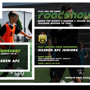 Coerver's Play Like The Stars (PLTS) Roadshow  - comes to Silsden on Wed 29th August