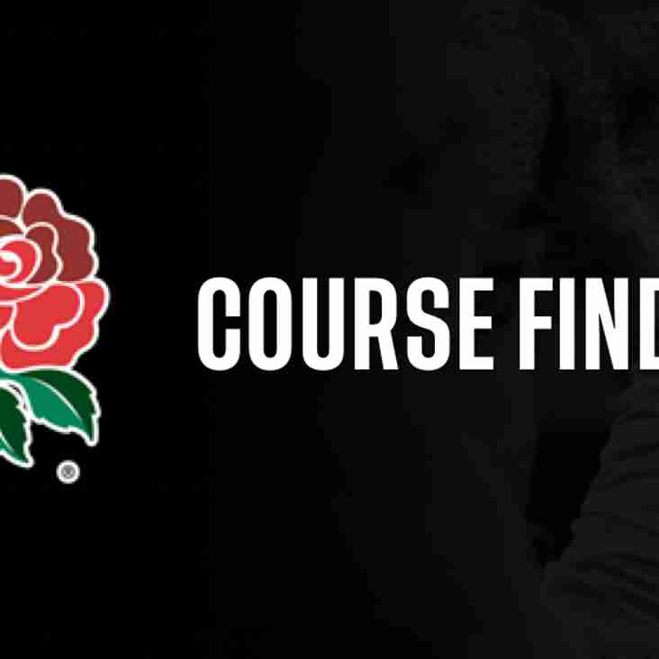 New RFU course Booking Site