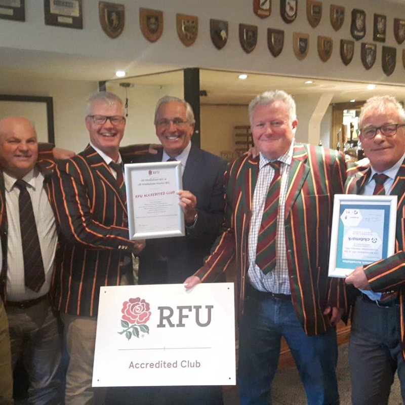 The OWRFC and the Warriors receives RFU Accreditation from Surrey RFU President