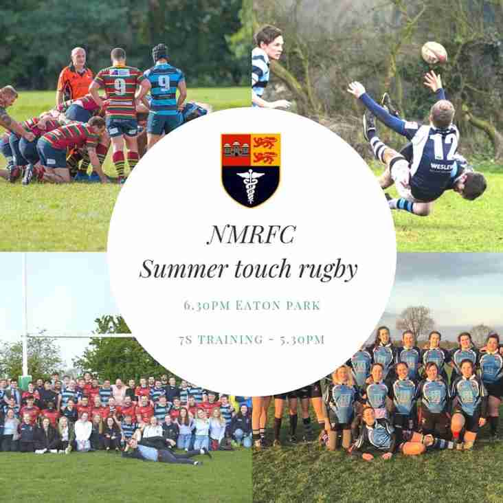 NMRFC Summer Touch Rugby