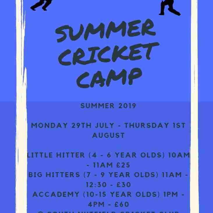 SNCC Summer Cricket Camp