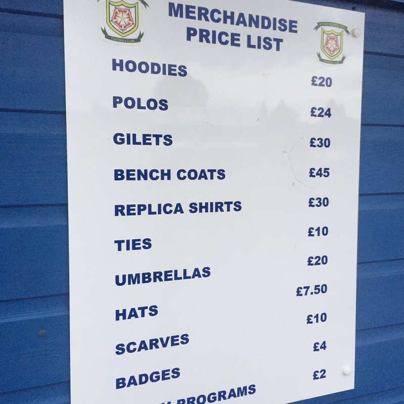 Merchandise available on Saturday for the last game of the 2017/2018 Season!