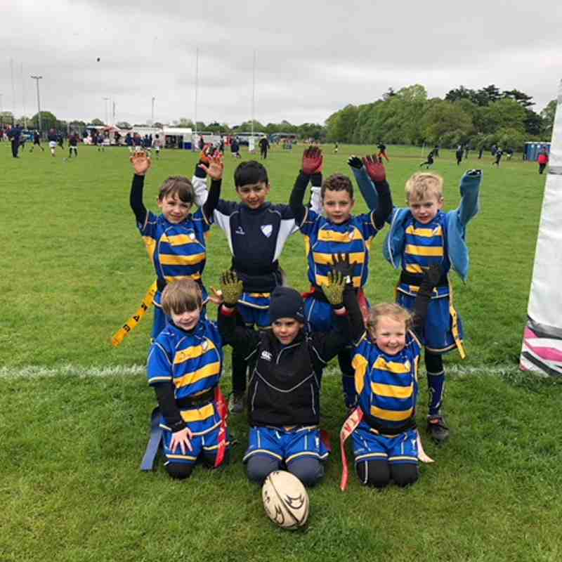 Chipstead U7s and U8s at the 2018 London Irish festival