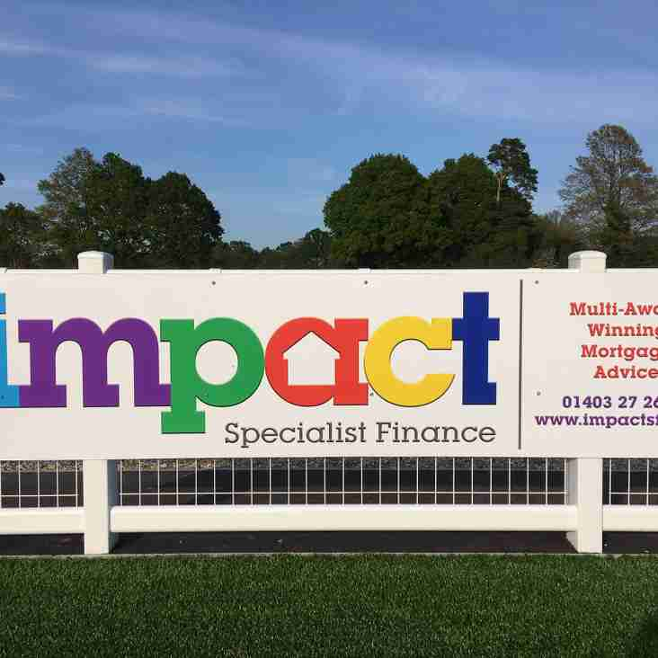 Impact Specialist Finance renew their sponsorship of Horsham Rugby Club