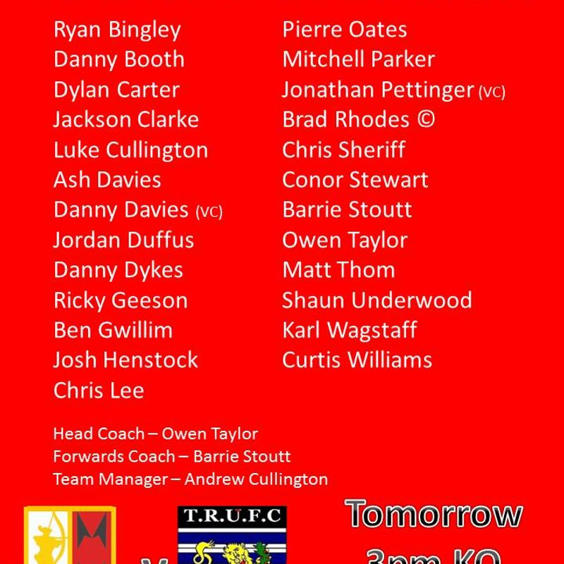 Squad Announcement || Thornensians (H)