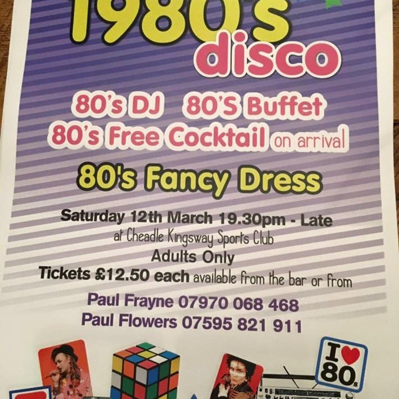 80s Night with Fancy Dress - a few tickets left!