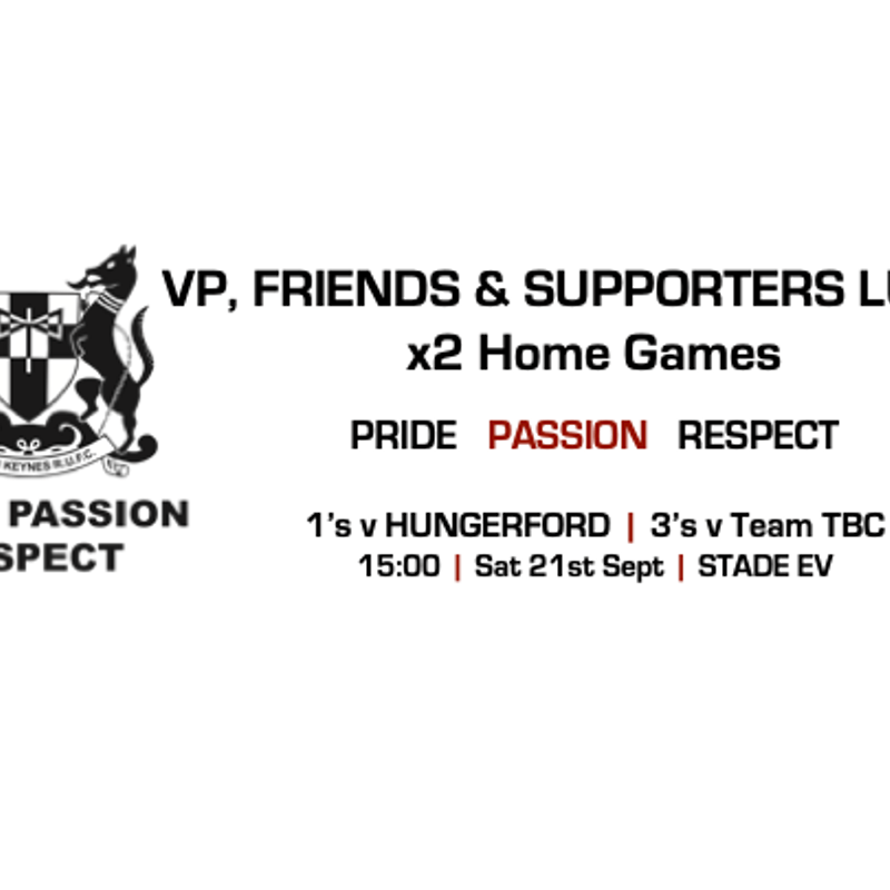VP's, Friends & Supporters Lunch
