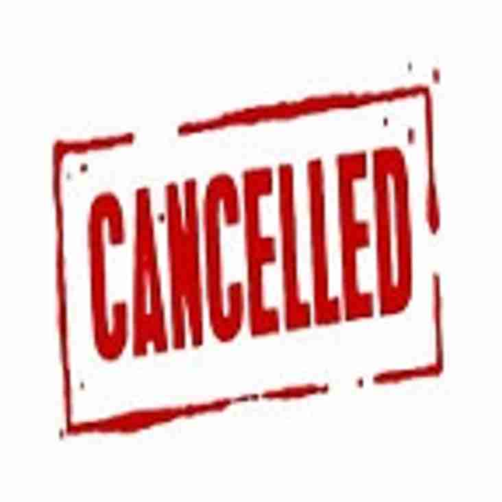 Thurston 2nd XV Game Cancelled 15th Sept