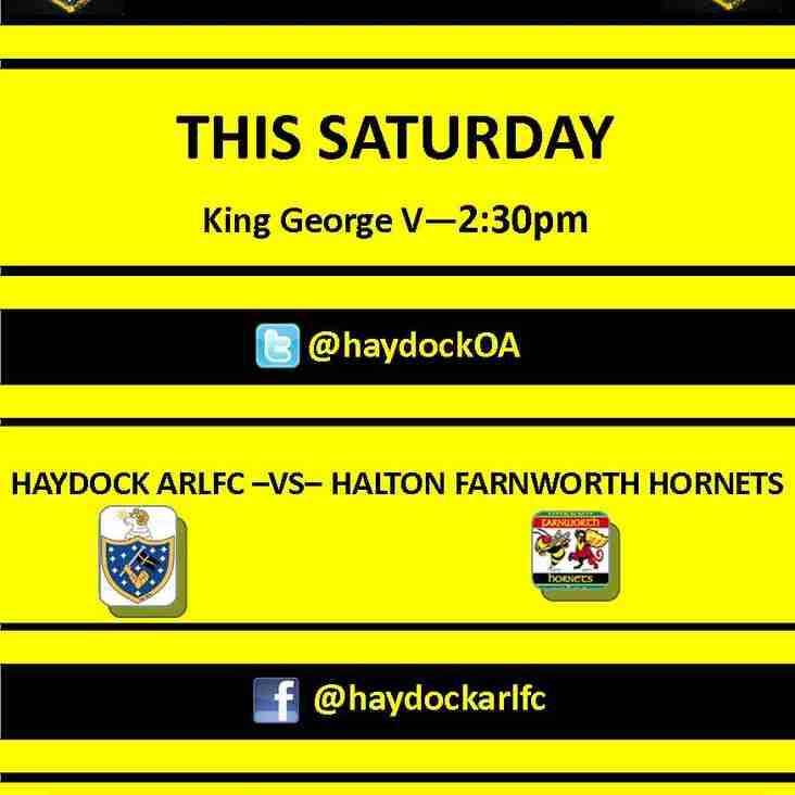 1st Team host Halton Farnworth Hornets