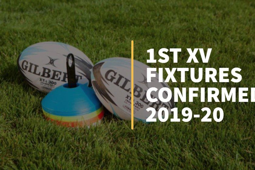 1st XV Fixtures Confirmed