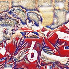 WORKINGTON REDS - POSTERIZED PLAYER AND STAFF IMAGES by Ben Challis