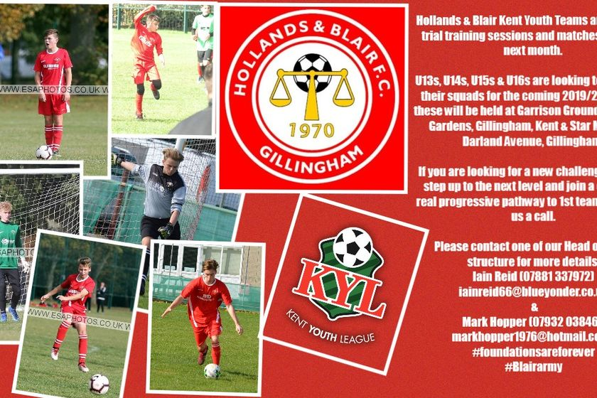 Hollands & Blair Kent Youth League Trials