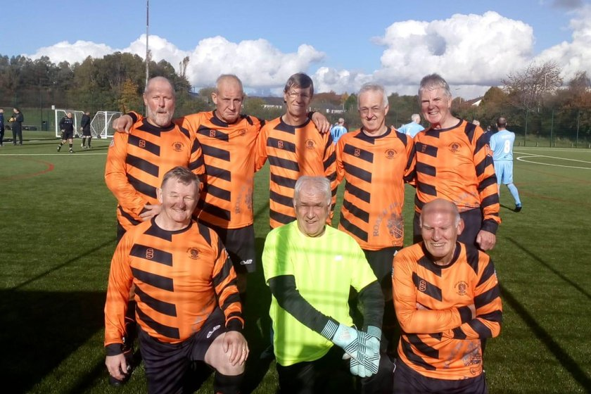 Roach Dynamos Over 60s and Over 65s Walking Football teams