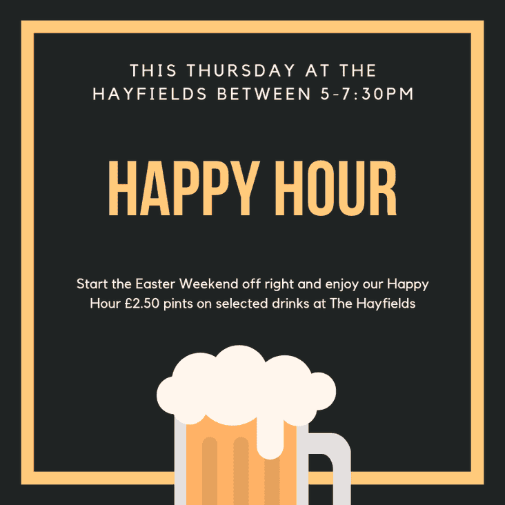 Happy Hour this Thursday Night!