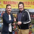 Jack Self presented with Manager's Player of the Year Trophy