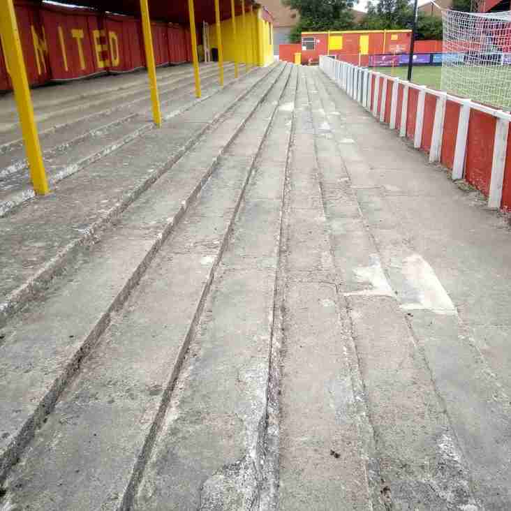 Excellent Work by Volunteers on Stadium Terracing