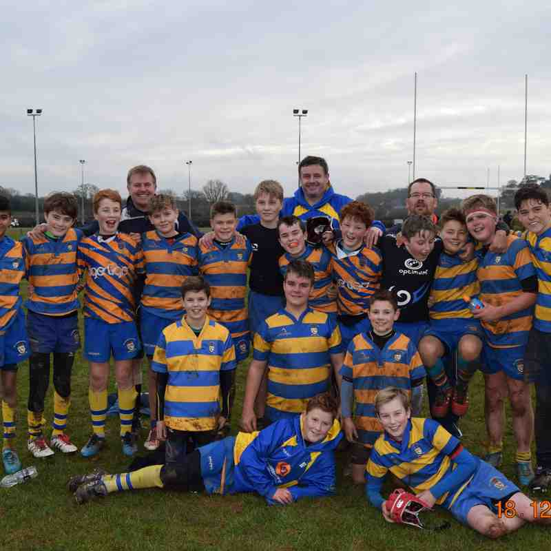 U13's beat Droitwich 4 tries to 1
