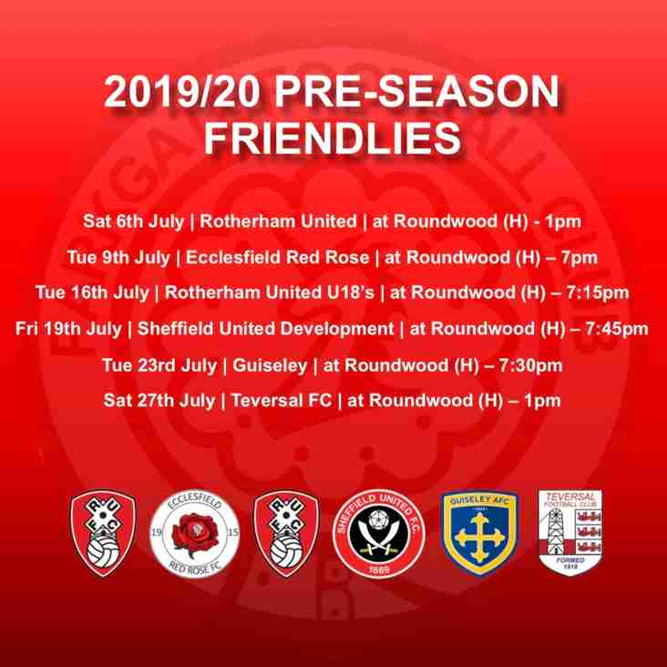 Pre-Season Games Confirmed!