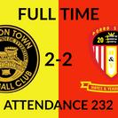 Tiverton Town 2-2 Hayes & Yeading United