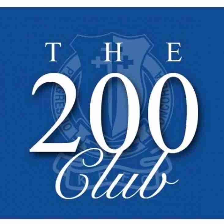KRFC '200 Club' February Winners.