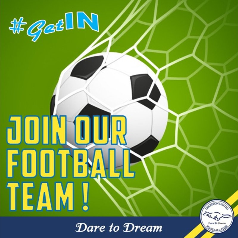 Leighton United FC U11 Blues looking for additional players