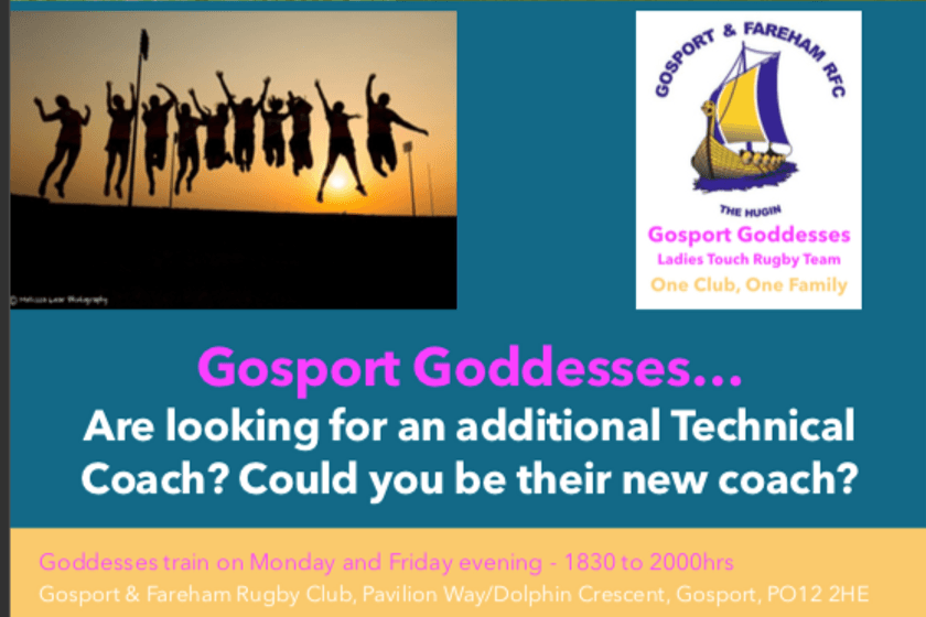 Gosport Goddesses… Are looking for an additional Technical Coach?
