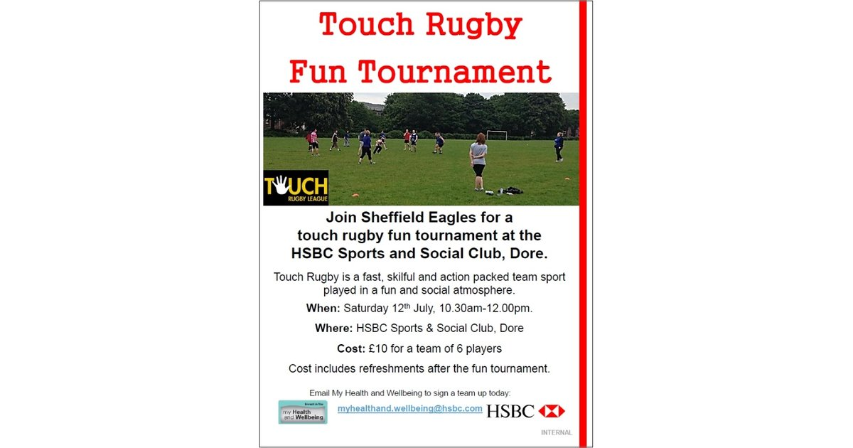 Anyone up for entering a Touch-Rugby Tournament ? - News - SHEFFIELD