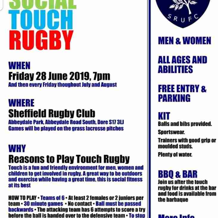 SRUFC Summer Touch Rugby