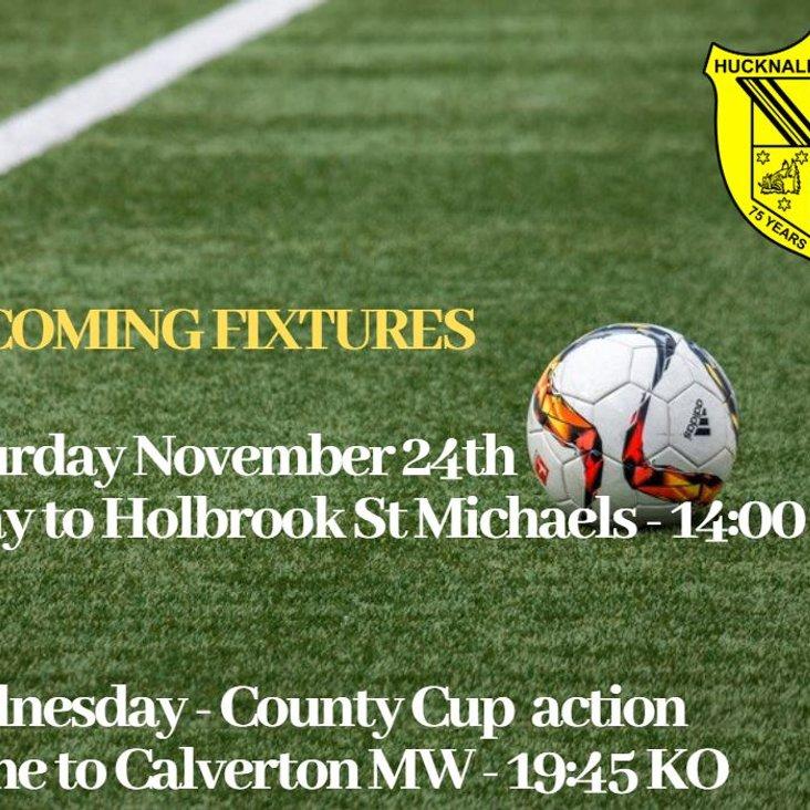 Fixtures coming up<