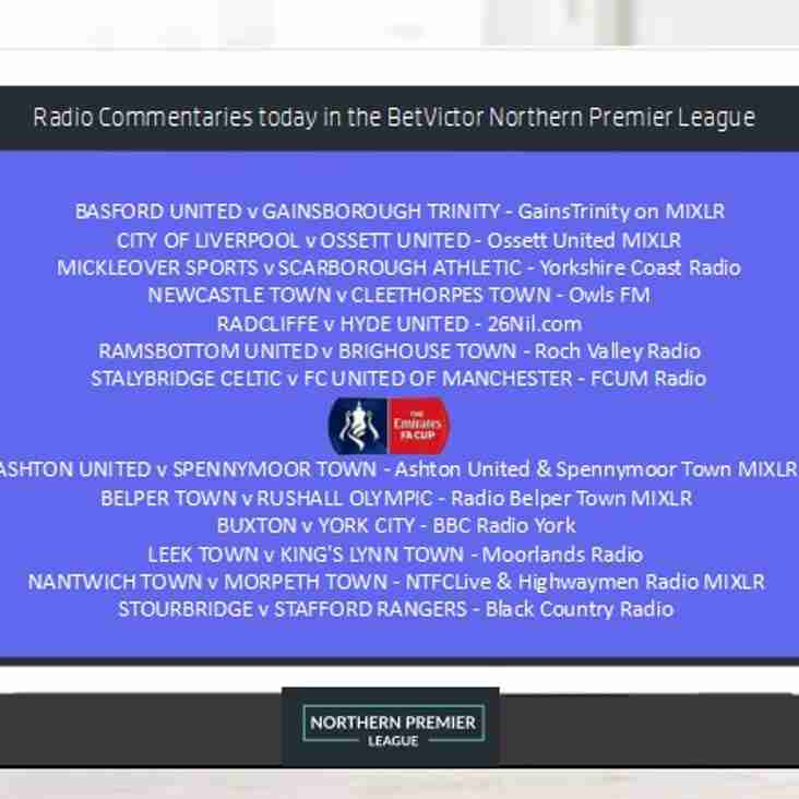 Bumper Radio Coverage this afternoon