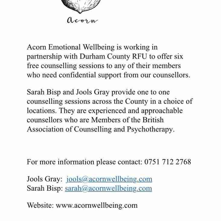 Durham RFU Mental Health Awareness