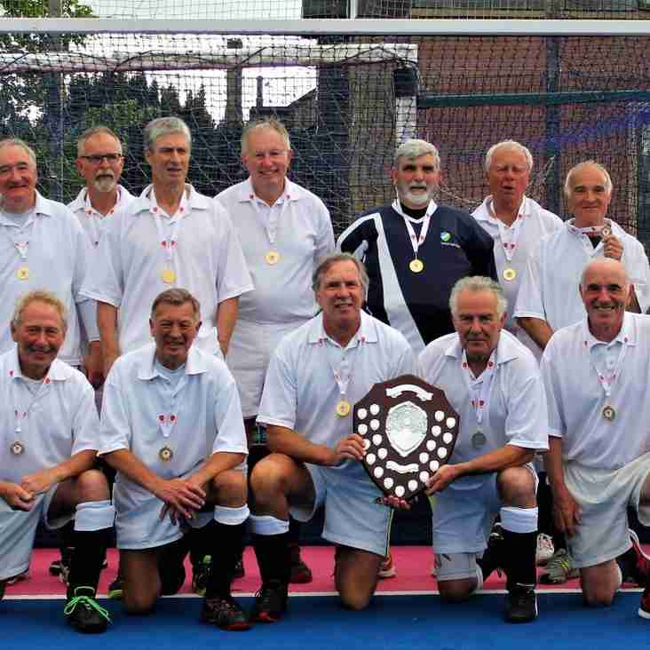 Ian Feather wins Over 70s Hockey Gold Medal