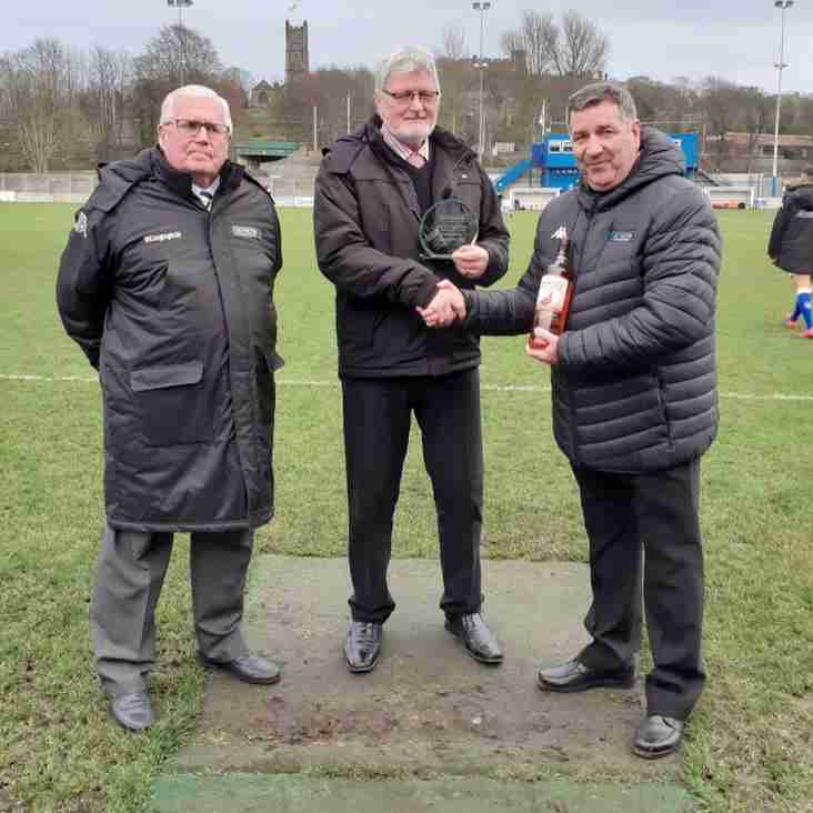 Lancaster presented with club of the month award