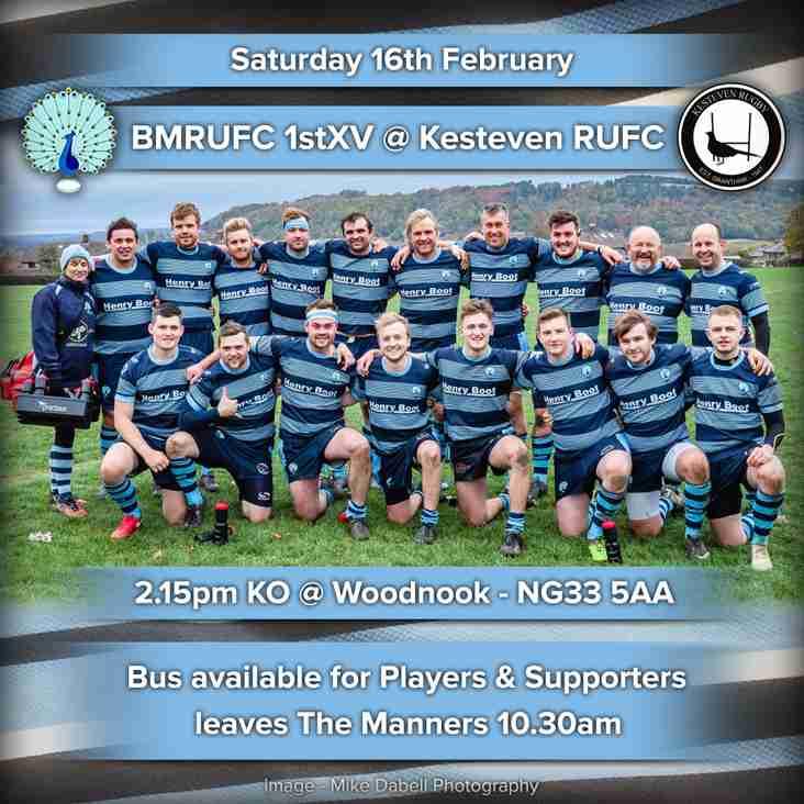 Senior Rugby Saturday 16th February