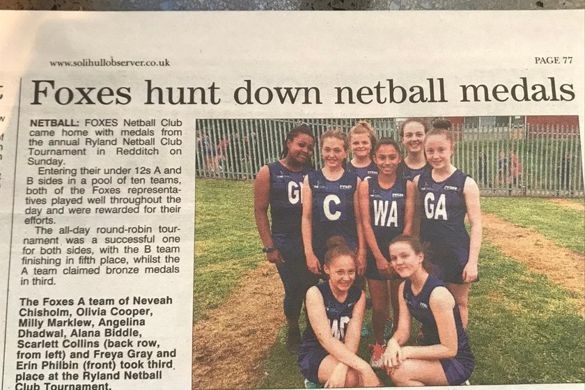 Foxes made the Solihull times