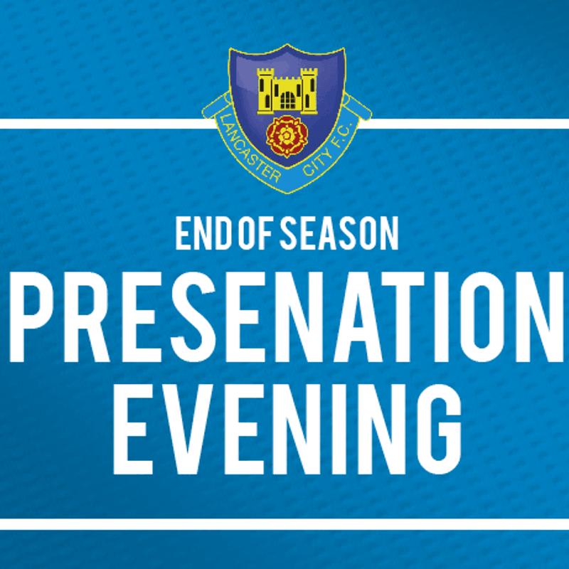 END OF SEASON: Presentation Evening