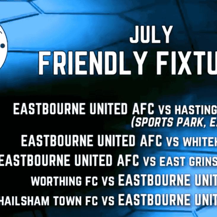 Pre Season Friendly Fixture List