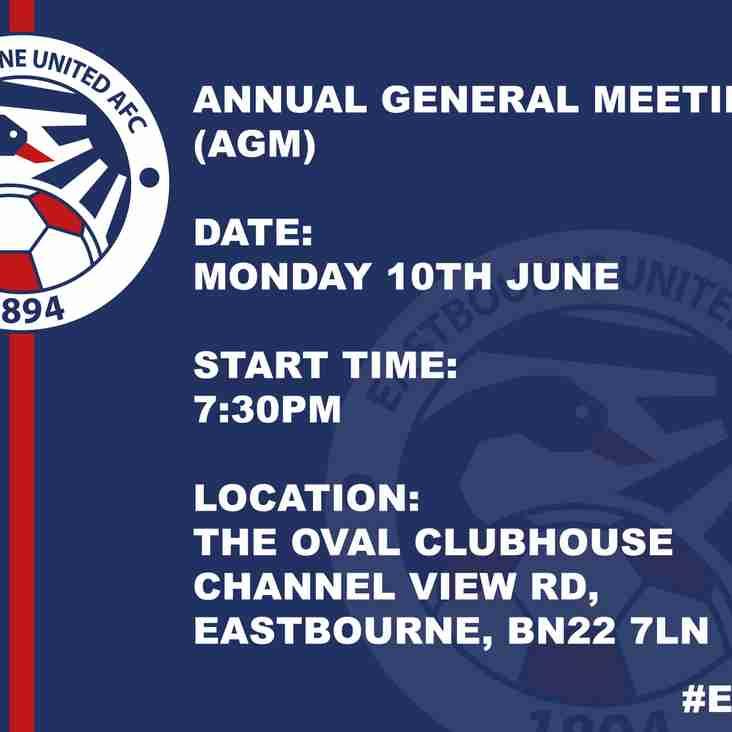 NOTICE: AGM Meeting Tomorrow