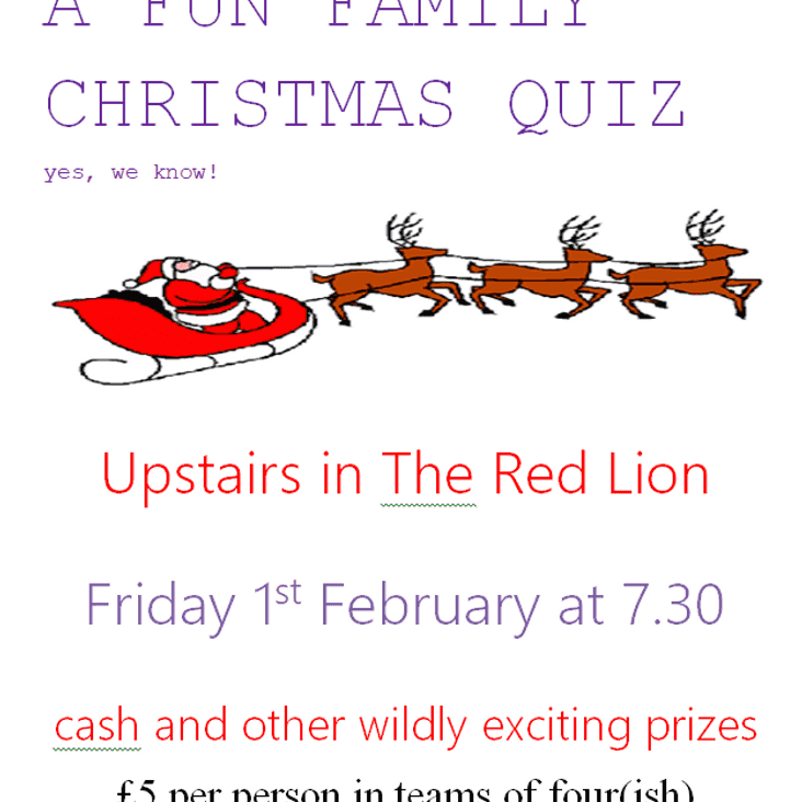 Colts Christmas Quiz (yes we know) ENTER HERE!